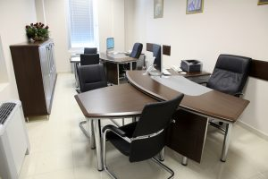 empty manager office with luxurious furniture